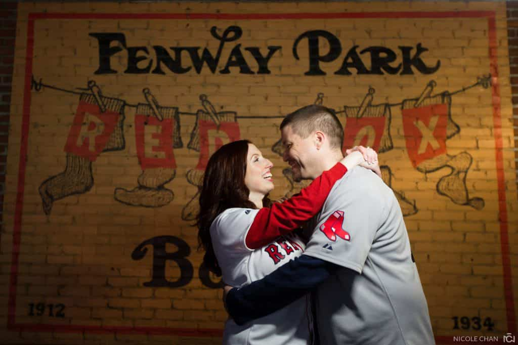 Fenway Baseball engagement session – Megan + Rob