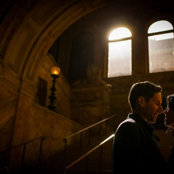Boston Public Library engagement session photos