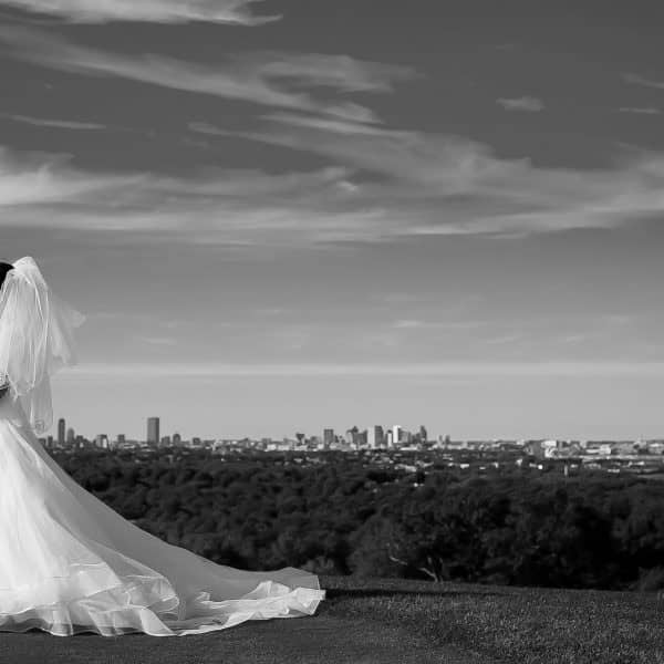 Wedding photographs of Asian couple at Granite Links Country Club in Quincy, MA