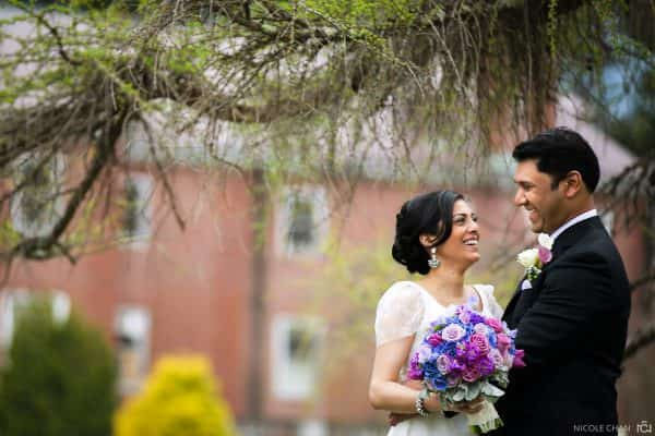 Indian bride and groom at Elm Bank wedding photos in Wellesley, MA