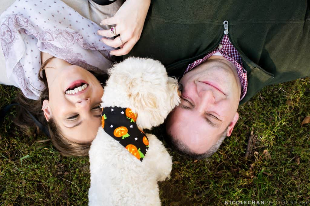 Library-themed engagement shoot in Boston Commons – Molly + Matt