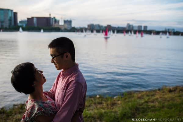 Boston Charles River marriage proposal – Allen + Siting