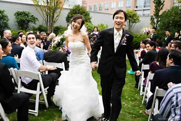 Greater Boston Le Meridien Hotel outdoor rooftop wedding in Cambridge, MA