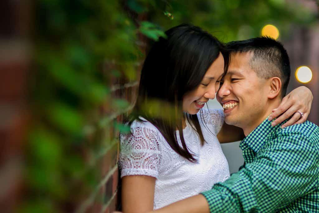 Boston Public Gardens and Beacon Hill engagement – Eda + Simon