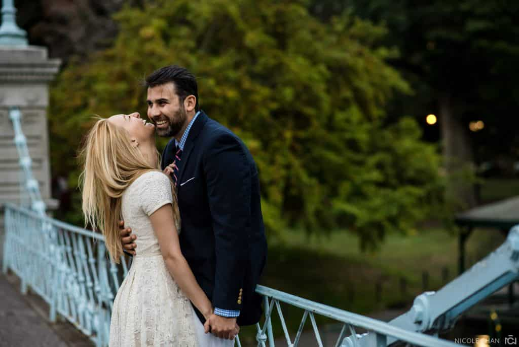 Boston Public Gardens Engagement photos by Nicole Chan