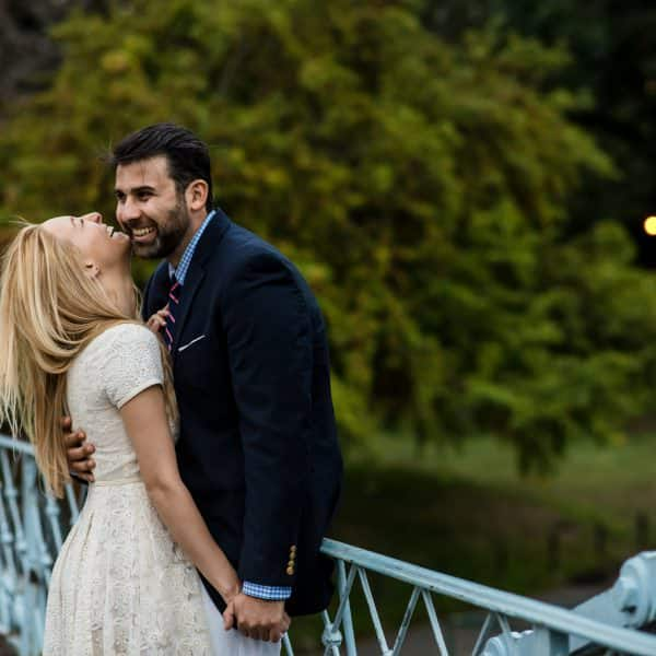 Boston Public Gardens Engagement photos by Nicole Chan