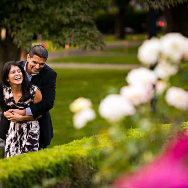 Boston Commons marriage proposal photographer in the Boston Public Gardens
