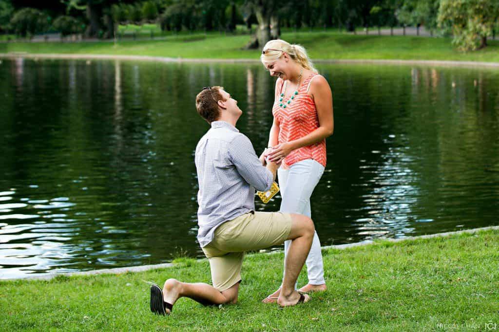 Boston Public Gardens proposal photos – Ashley + Matt