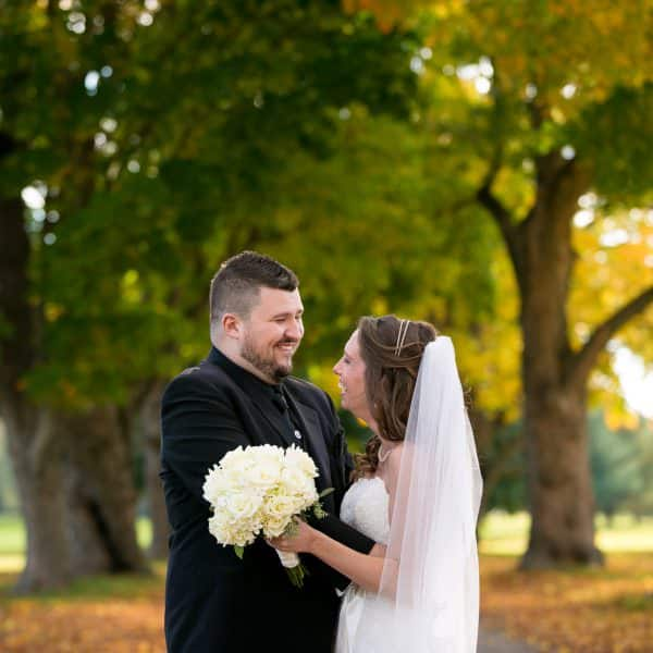 Easton Country Club fall foliage wedding photos in Easton, MA