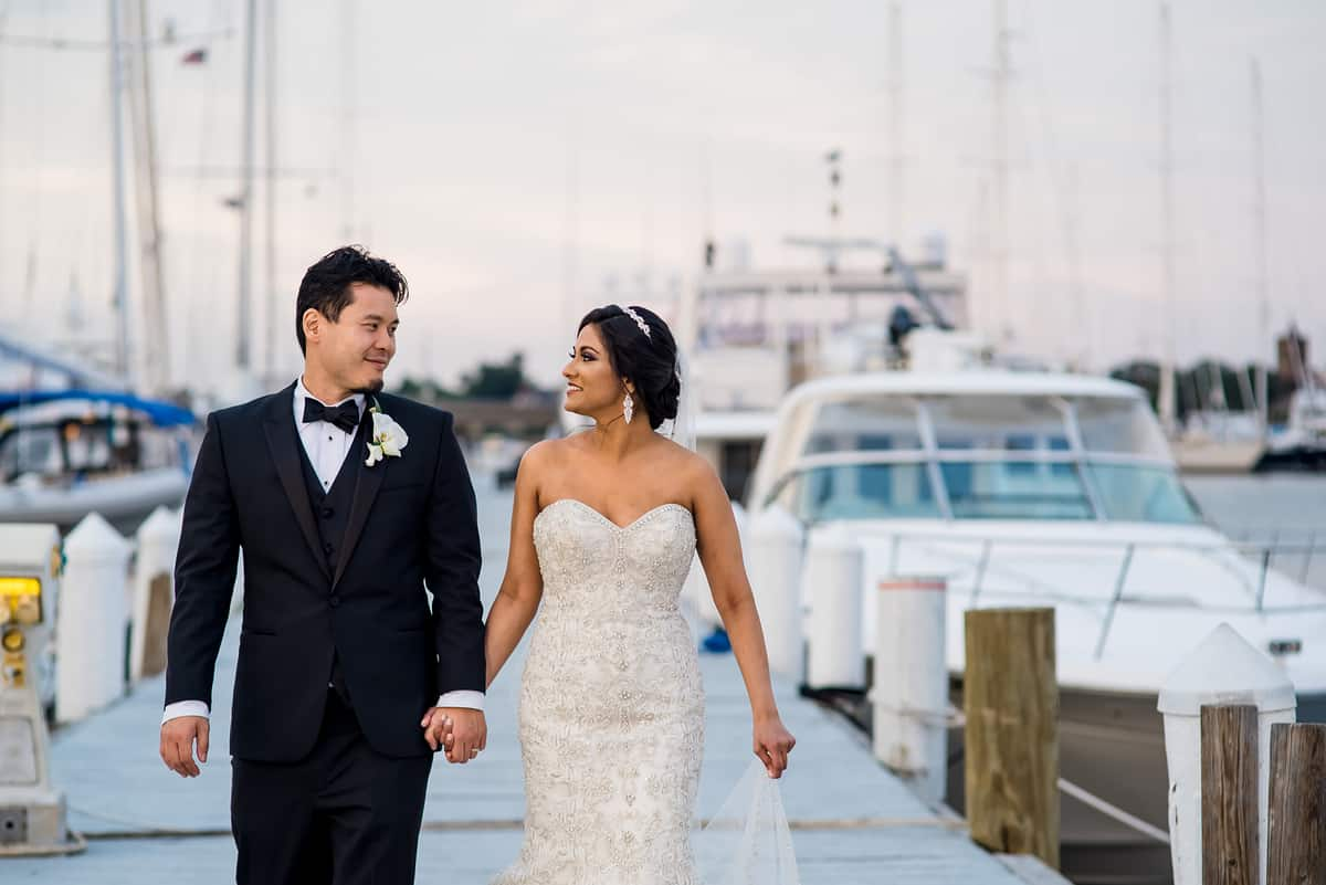Belle Mer wedding in Newport, RI