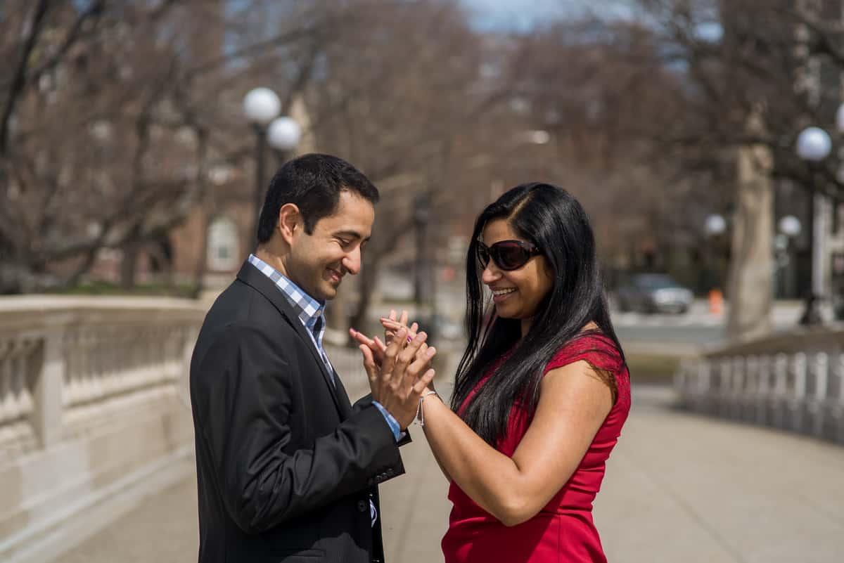 Cambridge John Weeks Bridge Marriage Proposal Photography