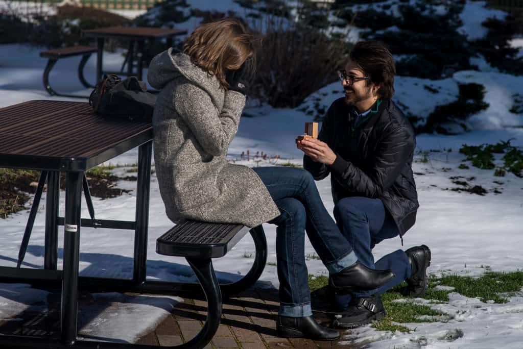 Cambridge Boston rooftop marriage proposal