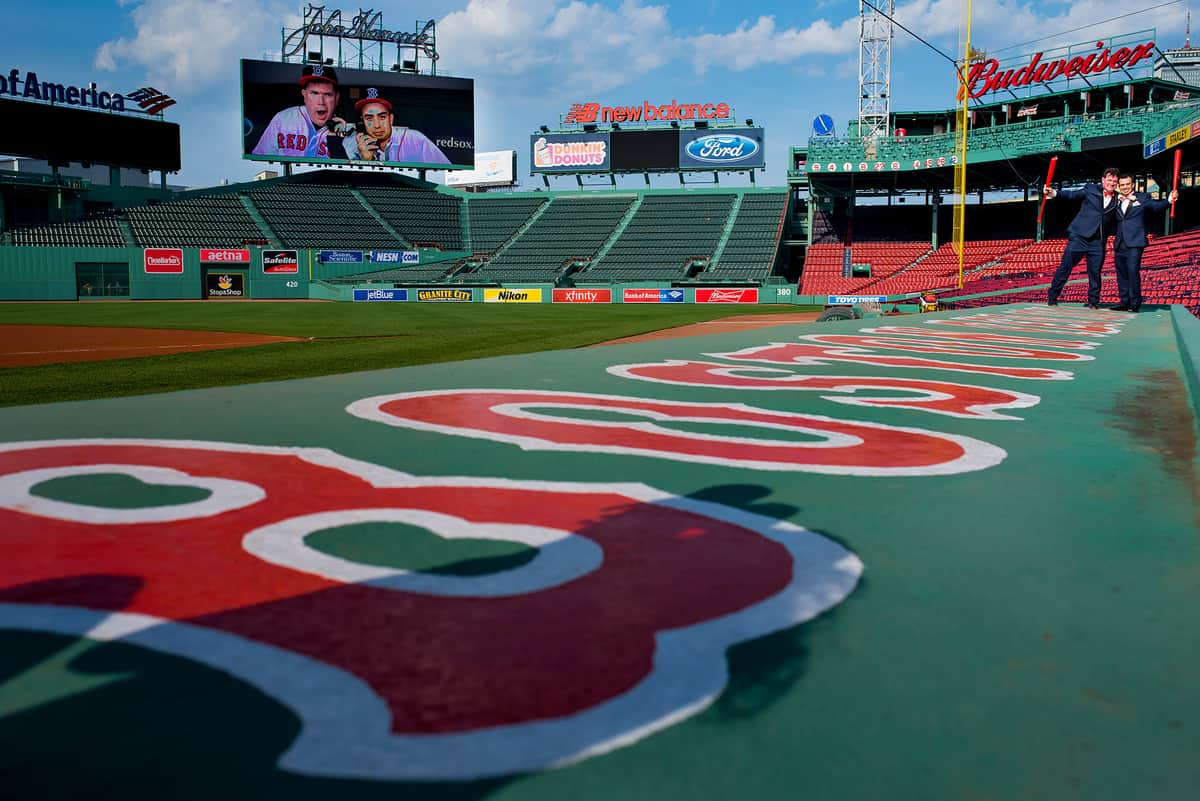 Boston Fenway Park wedding photos