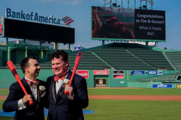 Boston Fenway Park wedding – Tim and Gerson