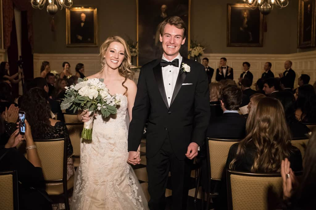 Harvard Club of Boston wedding