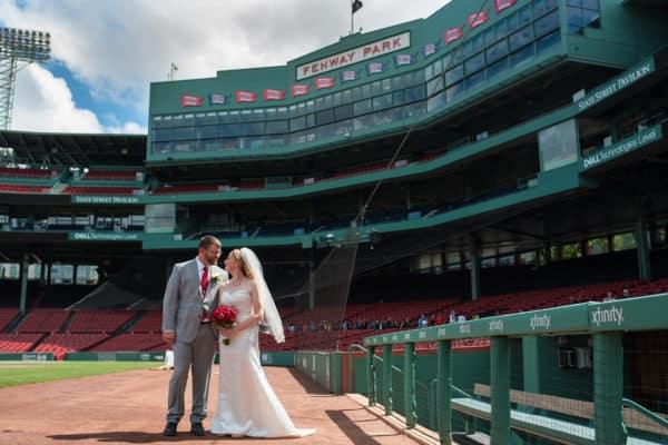 Boston Fenway Park EMC Club wedding