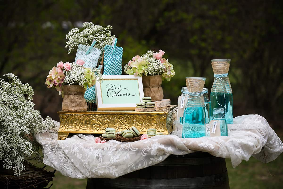 boston gold and pastel green wedding theme