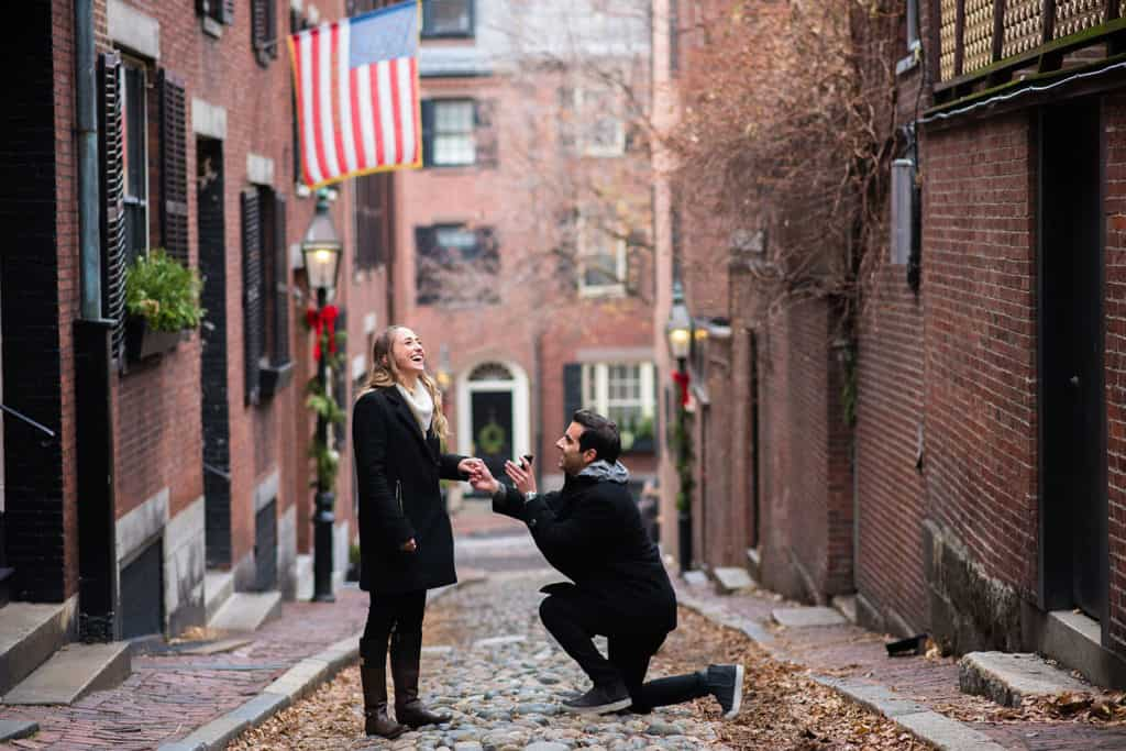 Acorn St. Beacon Hill proposal photography