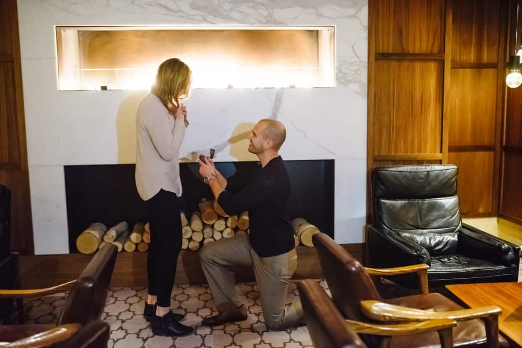Katie and Andrew's proposal at the Ritz-Carlton in Downtown Boston by Nicole Chan Photography