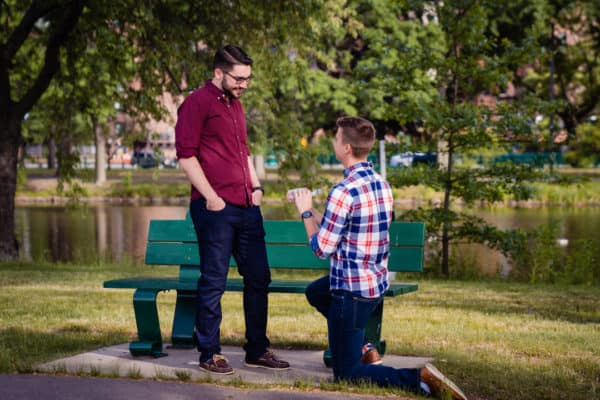 Same-sex Boston Charles River Proposal Photographer Nicole Chan