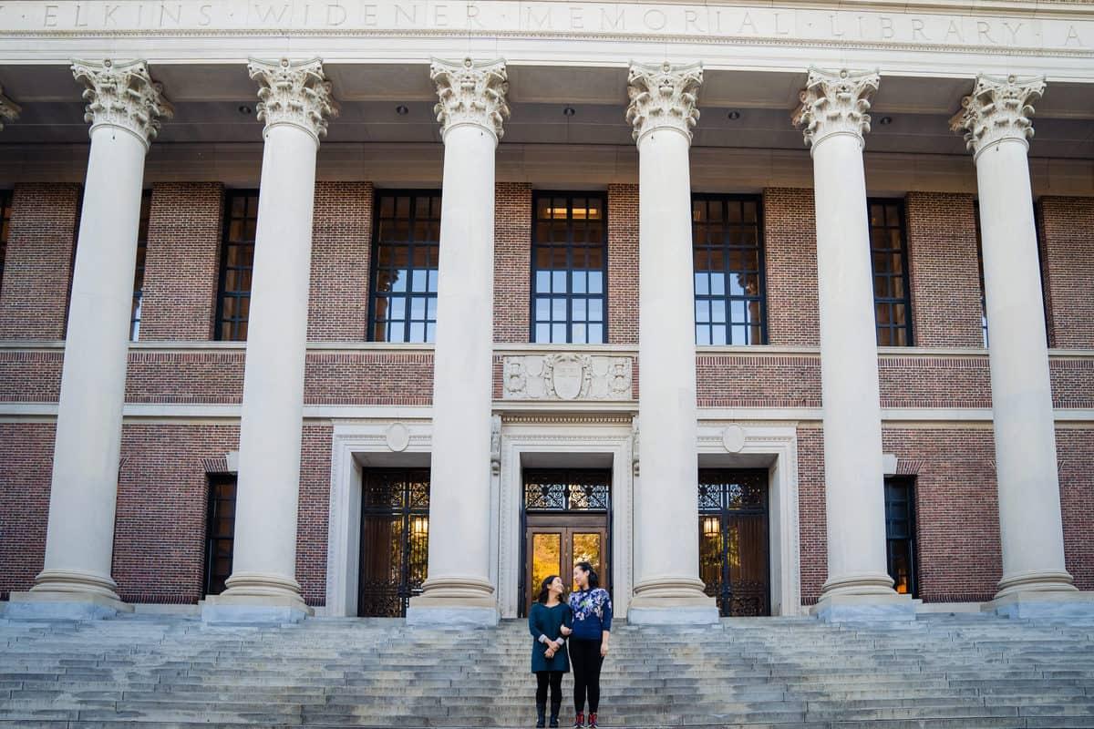 Harvard square engagement session photo