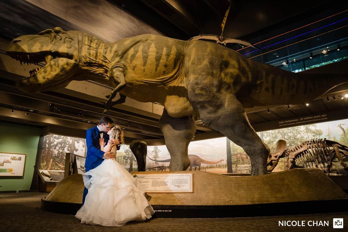 Colorful Boston Museum summer wedding photos by Boston Wedding Photographer Nicole Chan Photography