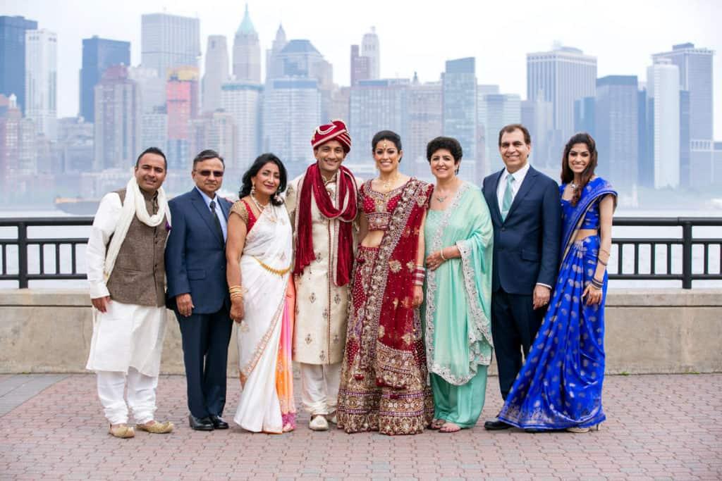 boston wedding family photo